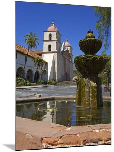 Fountain, Old Mission Santa Barbara, Santa Barbara City, California-Richard Cummins-Mounted Photographic Print