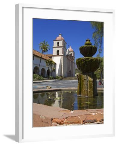 Fountain, Old Mission Santa Barbara, Santa Barbara City, California-Richard Cummins-Framed Art Print