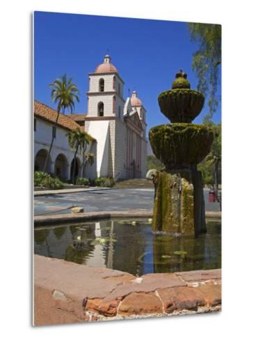 Fountain, Old Mission Santa Barbara, Santa Barbara City, California-Richard Cummins-Metal Print