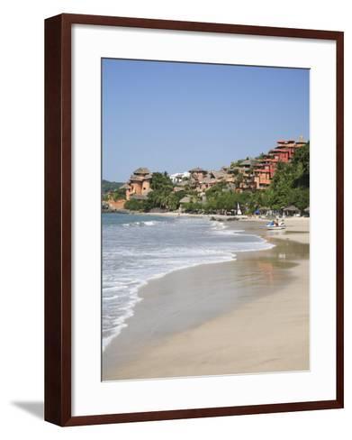 Playa La Ropa, Pacific Ocean, Zihuatanejo, Guerrero State, Mexico, North America-Wendy Connett-Framed Art Print