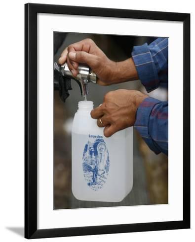 Holy Water Tap at the Lourdes Shrine, Lourdes, Hautes Pyrenees, France, Europe-Godong-Framed Art Print