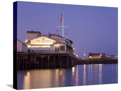 Stearns Wharf, Santa Barbara Harbor, California, United States of America, North America-Richard Cummins-Stretched Canvas Print