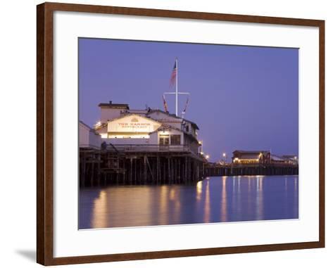 Stearns Wharf, Santa Barbara Harbor, California, United States of America, North America-Richard Cummins-Framed Art Print