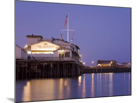 Stearns Wharf, Santa Barbara Harbor, California, United States of America, North America-Richard Cummins-Mounted Photographic Print