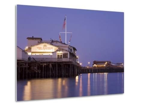 Stearns Wharf, Santa Barbara Harbor, California, United States of America, North America-Richard Cummins-Metal Print