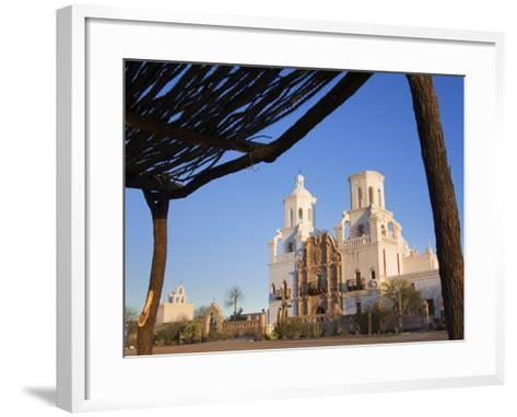 Mission San Xavier Del Bac, Tucson, Arizona, United States of America, North America-Richard Cummins-Framed Art Print