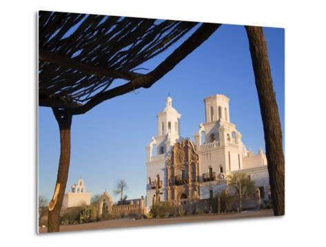 Mission San Xavier Del Bac, Tucson, Arizona, United States of America, North America-Richard Cummins-Metal Print