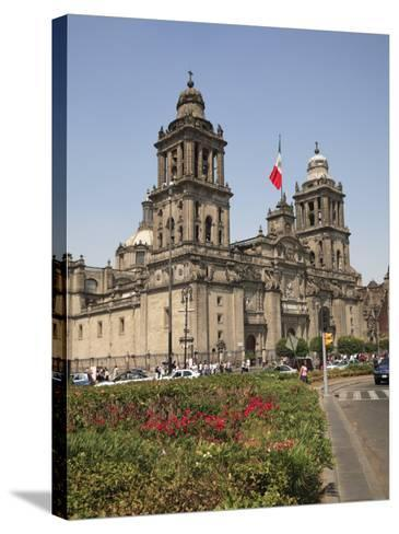 Metropolitan Cathedral, Zocalo, Mexico City, Mexico, North America-Wendy Connett-Stretched Canvas Print