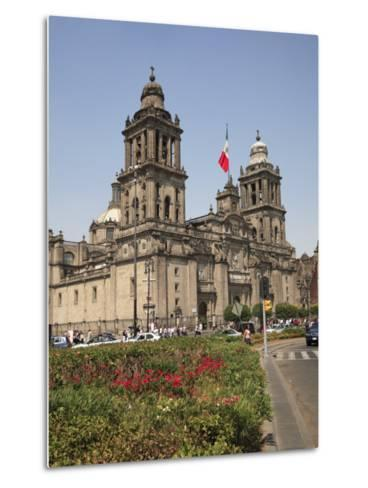Metropolitan Cathedral, Zocalo, Mexico City, Mexico, North America-Wendy Connett-Metal Print