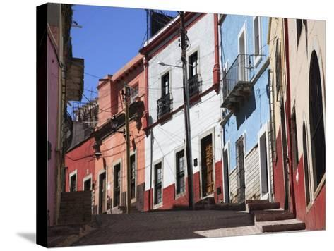 Narrow Street, Guanajuato, Guanajuato State, Mexico, North America-Wendy Connett-Stretched Canvas Print