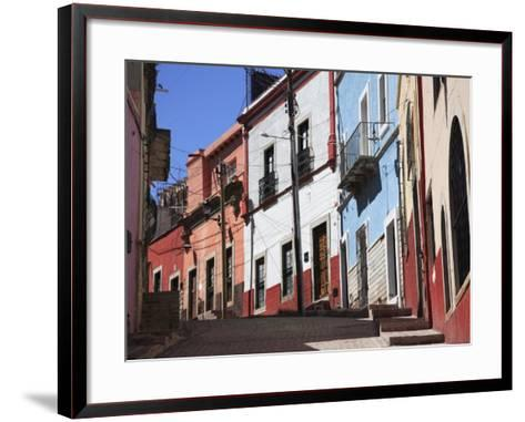 Narrow Street, Guanajuato, Guanajuato State, Mexico, North America-Wendy Connett-Framed Art Print