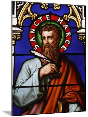 Stained Glass Window of St. Mark at Collegiale Notre-Dame Des Marais, France, Europe-Godong-Mounted Photographic Print