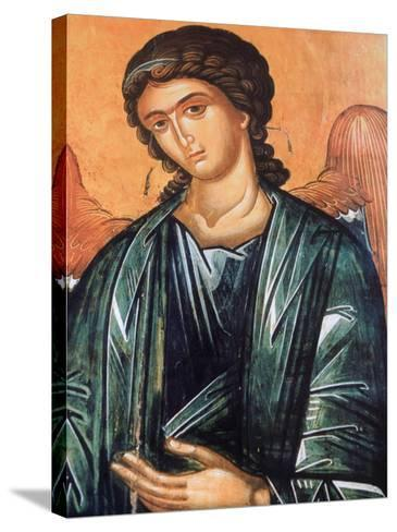 Detail of Fresco in Aghios Andreas Monastery on Mount Athos, Greece, Europe-Godong-Stretched Canvas Print
