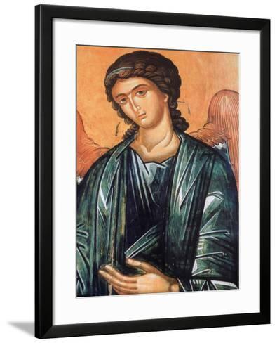 Detail of Fresco in Aghios Andreas Monastery on Mount Athos, Greece, Europe-Godong-Framed Art Print
