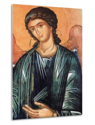Detail of Fresco in Aghios Andreas Monastery on Mount Athos, Greece, Europe-Godong-Metal Print