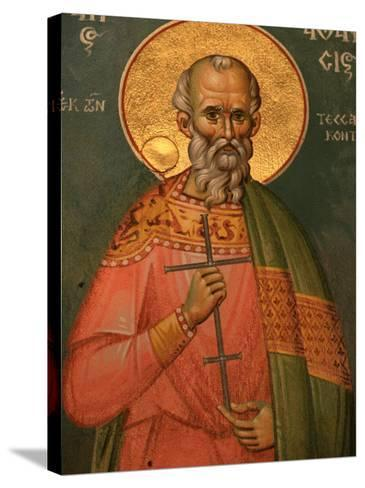 St. Athanasos, Greek Orthodox Icon, Thessaloniki, Macedonia, Greece, Europe-Godong-Stretched Canvas Print
