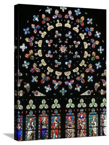 Rose Window in Notre-Dame-Des-Carmes Church, Pont-L'Abbe, Pont-L'Abbe, Finistere, France, Europe-Godong-Stretched Canvas Print