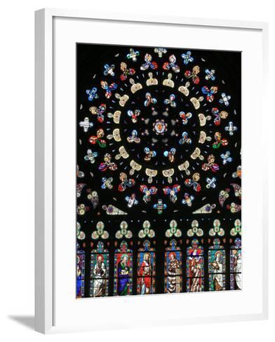 Rose Window in Notre-Dame-Des-Carmes Church, Pont-L'Abbe, Pont-L'Abbe, Finistere, France, Europe-Godong-Framed Art Print