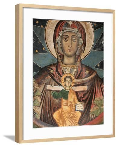 Fresco in Koutloumoussiou Monastery on Mount Athos, UNESCO World Heritage Site, Greece, Europe-Godong-Framed Art Print