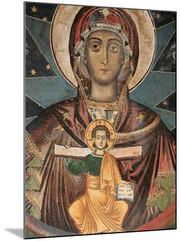 Fresco in Koutloumoussiou Monastery on Mount Athos, UNESCO World Heritage Site, Greece, Europe-Godong-Mounted Photographic Print