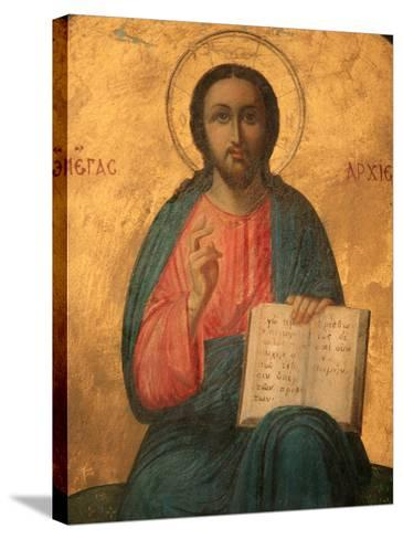 Greek Orthodox Icon Depicting Christ as High Priest, Thessaloniki, Macedonia, Greece, Europe-Godong-Stretched Canvas Print