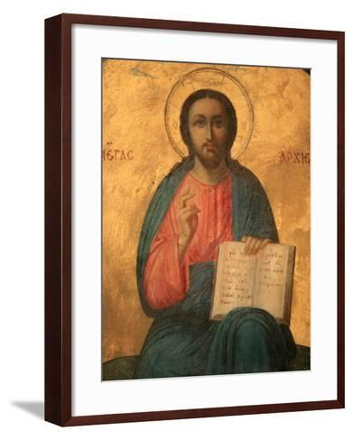 Greek Orthodox Icon Depicting Christ as High Priest, Thessaloniki, Macedonia, Greece, Europe-Godong-Framed Art Print