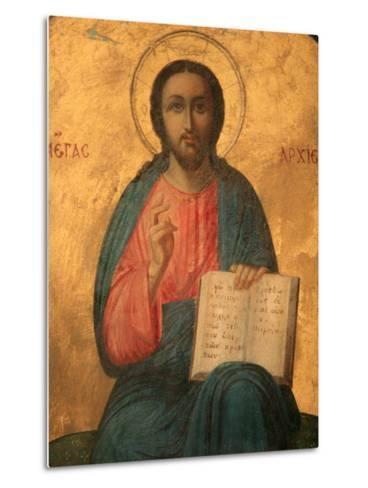 Greek Orthodox Icon Depicting Christ as High Priest, Thessaloniki, Macedonia, Greece, Europe-Godong-Metal Print