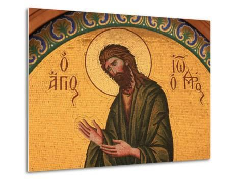 Greek Orthodox Icon Depicting St. John the Baptist, Thessaloniki, Macedonia, Greece, Europe-Godong-Metal Print
