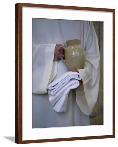 Mass in Saint Gervais Catholic Church Run by a Monastic Community, Paris, France, Europe-Godong-Framed Art Print