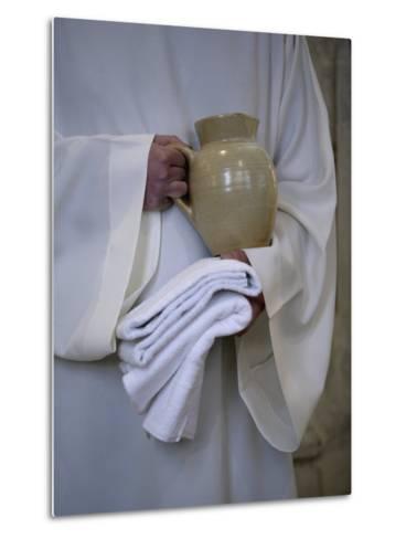 Mass in Saint Gervais Catholic Church Run by a Monastic Community, Paris, France, Europe-Godong-Metal Print