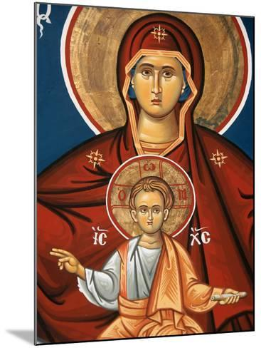 Greek Orthodox Icon Depicting Virgin and Child, Thessalonica, Macedonia, Greece, Europe-Godong-Mounted Photographic Print