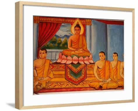 Scene from the Life of the Buddha, Vientiane, Laos, Indochina, Southeast Asia, Asia-Godong-Framed Art Print