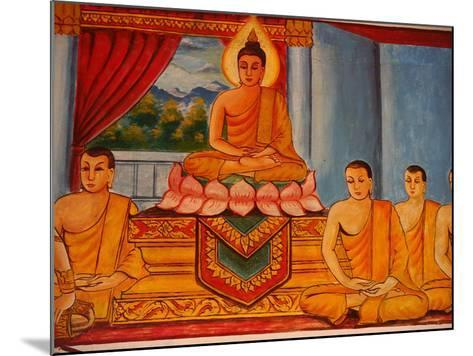 Scene from the Life of the Buddha, Vientiane, Laos, Indochina, Southeast Asia, Asia-Godong-Mounted Photographic Print