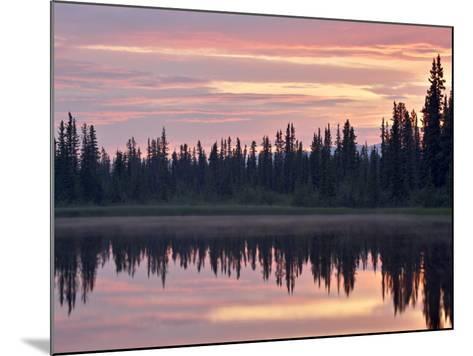 Sunset at an Unnamed Lake Near Salmo Lake, Alaska Highway, Yukon Territory, Canada, North America-James Hager-Mounted Photographic Print