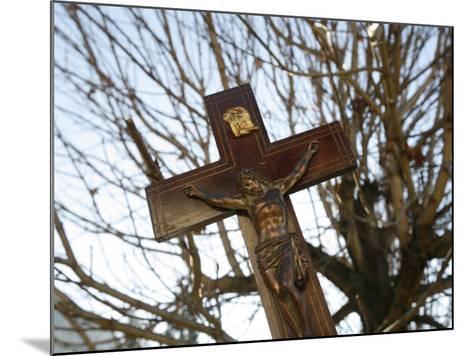 Crucifix, Saint Gervais, Haute Savoie, France, Europe-Godong-Mounted Photographic Print