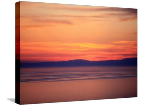 Sunset on the Aegean Sea, Mount Athos, Greece, Europe-Godong-Stretched Canvas Print