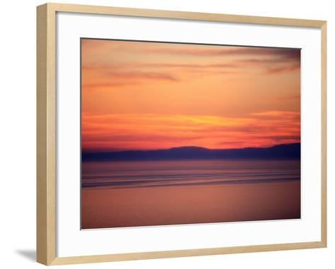 Sunset on the Aegean Sea, Mount Athos, Greece, Europe-Godong-Framed Art Print