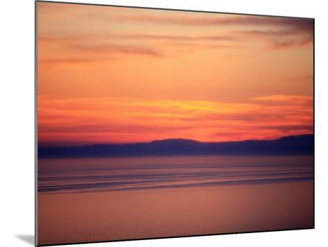 Sunset on the Aegean Sea, Mount Athos, Greece, Europe-Godong-Mounted Photographic Print