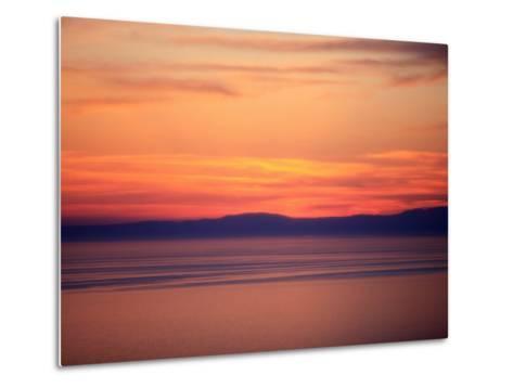 Sunset on the Aegean Sea, Mount Athos, Greece, Europe-Godong-Metal Print