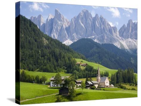 Parco Naturale Puez-Odle, Santa Maddalena, Val Di Funes, Dolomites, Bolzano, Italy-Ruth Tomlinson-Stretched Canvas Print