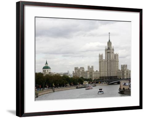 Stalin Era Building at Kotelnicheskaya Embankment, Moscow, Russia-Yadid Levy-Framed Art Print