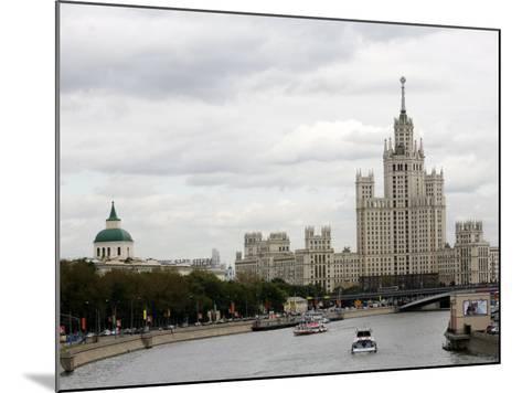 Stalin Era Building at Kotelnicheskaya Embankment, Moscow, Russia-Yadid Levy-Mounted Photographic Print
