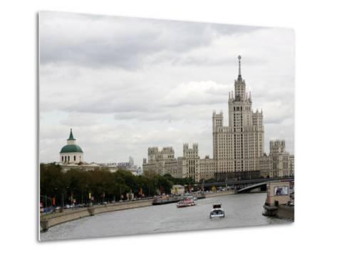 Stalin Era Building at Kotelnicheskaya Embankment, Moscow, Russia-Yadid Levy-Metal Print