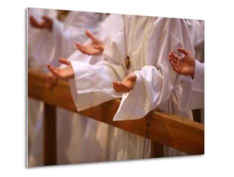Prayer During Profession of Faith, Annecy, Haute Savoie, France, Europe-Godong-Metal Print