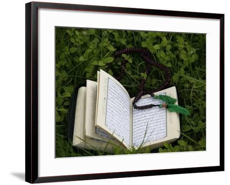 Koran and Prayer Beads, Chatillon-Sur-Chalaronne, Ain, France, Europe-Godong-Framed Art Print