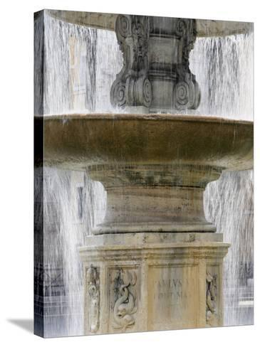 Fountain at St. Peter's Square, Vatican, Rome, Lazio, Italy, Europe-Godong-Stretched Canvas Print