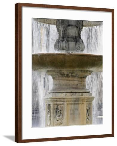 Fountain at St. Peter's Square, Vatican, Rome, Lazio, Italy, Europe-Godong-Framed Art Print