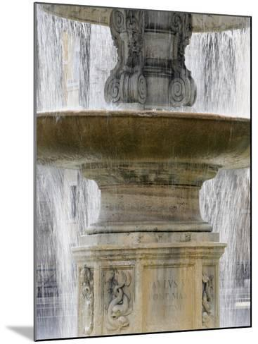 Fountain at St. Peter's Square, Vatican, Rome, Lazio, Italy, Europe-Godong-Mounted Photographic Print
