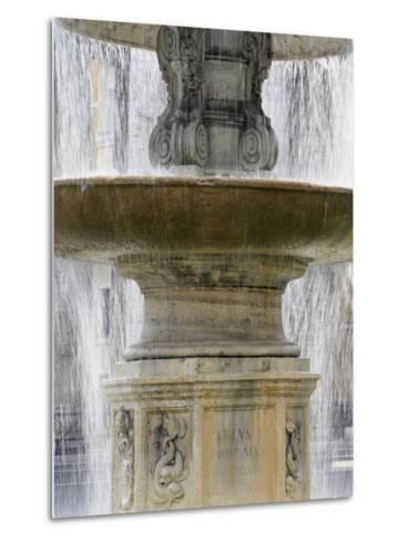 Fountain at St. Peter's Square, Vatican, Rome, Lazio, Italy, Europe-Godong-Metal Print