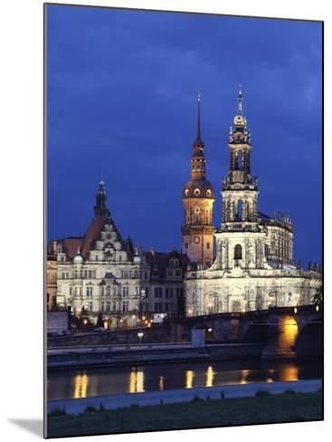 Catholic Hofkirche (Church of the Court) (St. Trinity Cathedral), Hausmann Tower, Dresden, Saxony, --Mounted Photographic Print